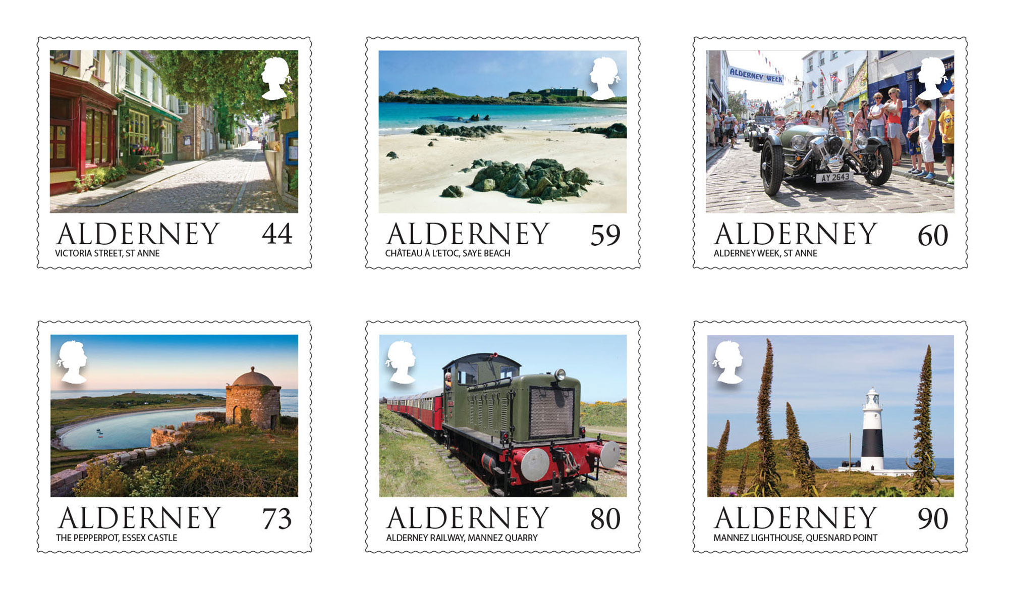 Alderney's beauty celebrated on stamps