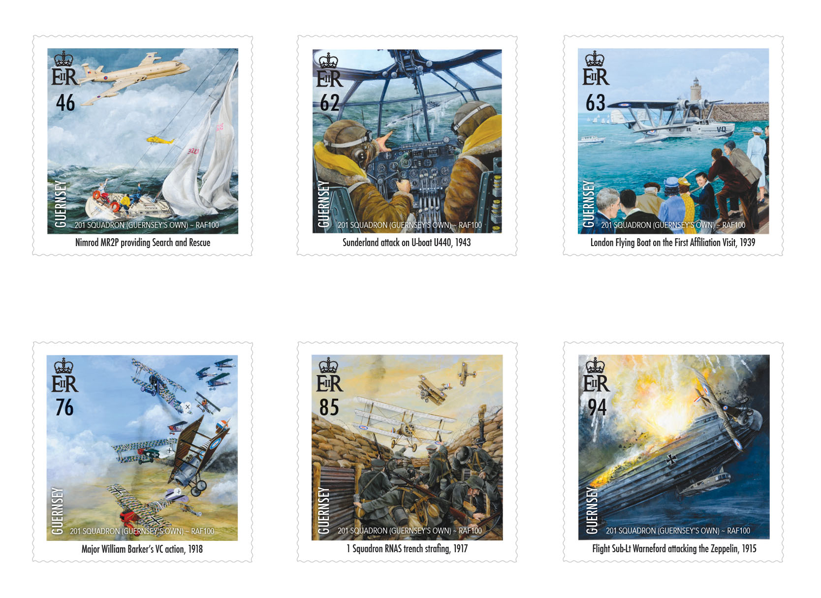 Stamps celebrate reformation of 'Guernsey's Own' 201 Squadron as RAF marks centenary