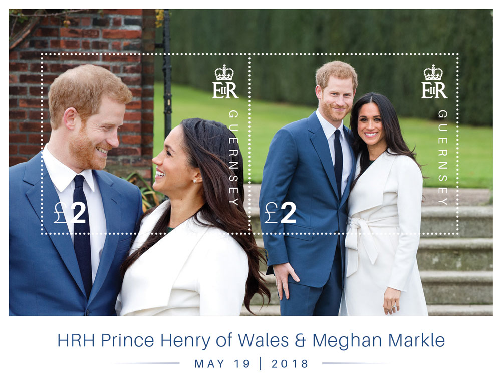 Guernsey to issue stamps to celebrate the marriage of HRH Prince Harry and Meghan Markle