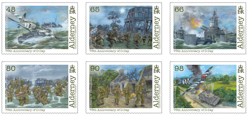 Stamps to commemorate 75th Anniversary of D-Day Landings