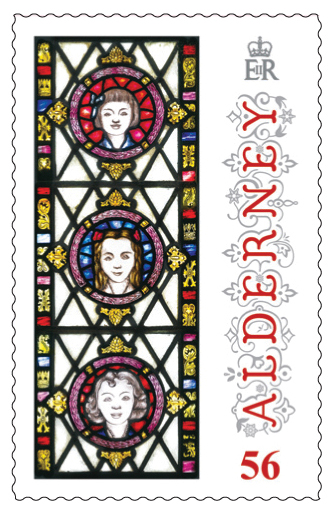 56p Stamp Anne French Stained Glass Windows