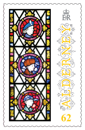 62p Stamp Anne French Stained Glass Windows