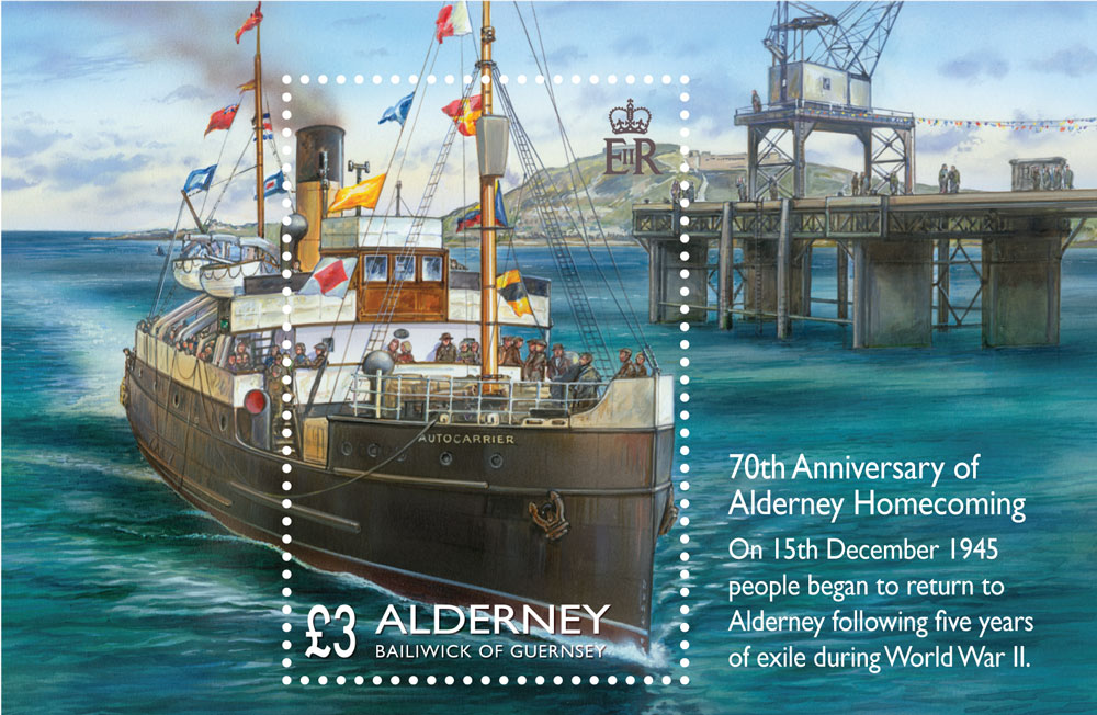 Stamp to be released to mark 70th Anniversary of Alderney Homecoming