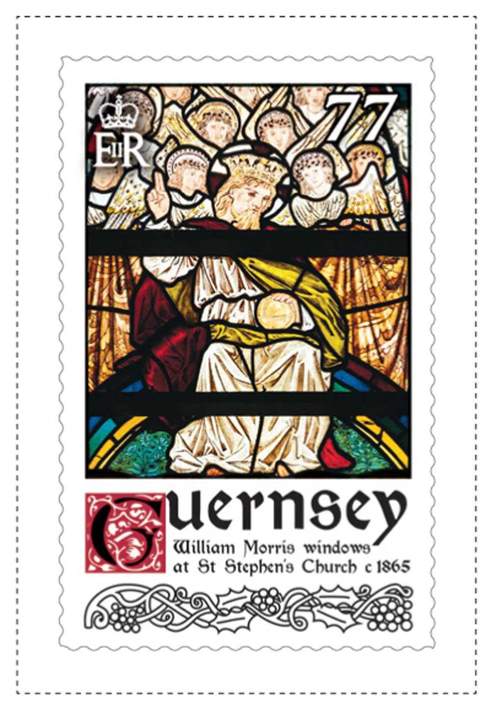 77p Stamp William Morris Stained Glass Windows