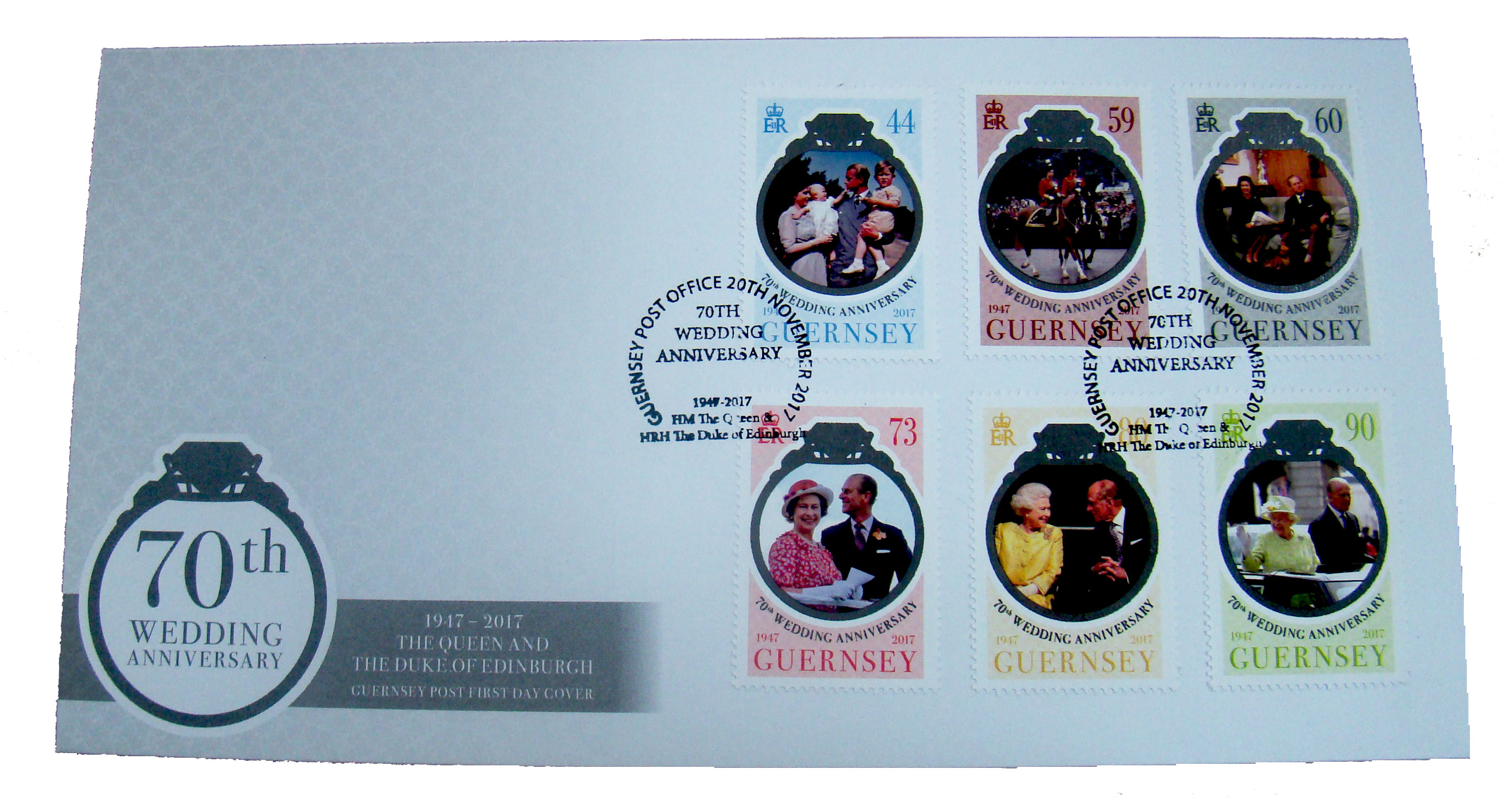 70th Wedding Anniversary of  The Queen and Prince Philip Special FDC