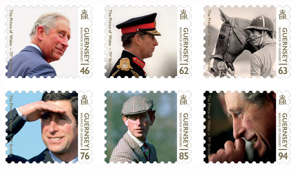Stamps celebrate The Prince of Wales''s 70th Birthday