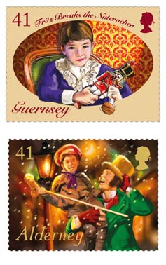 Classic Christmas tales depicted on Bailiwick Christmas stamps