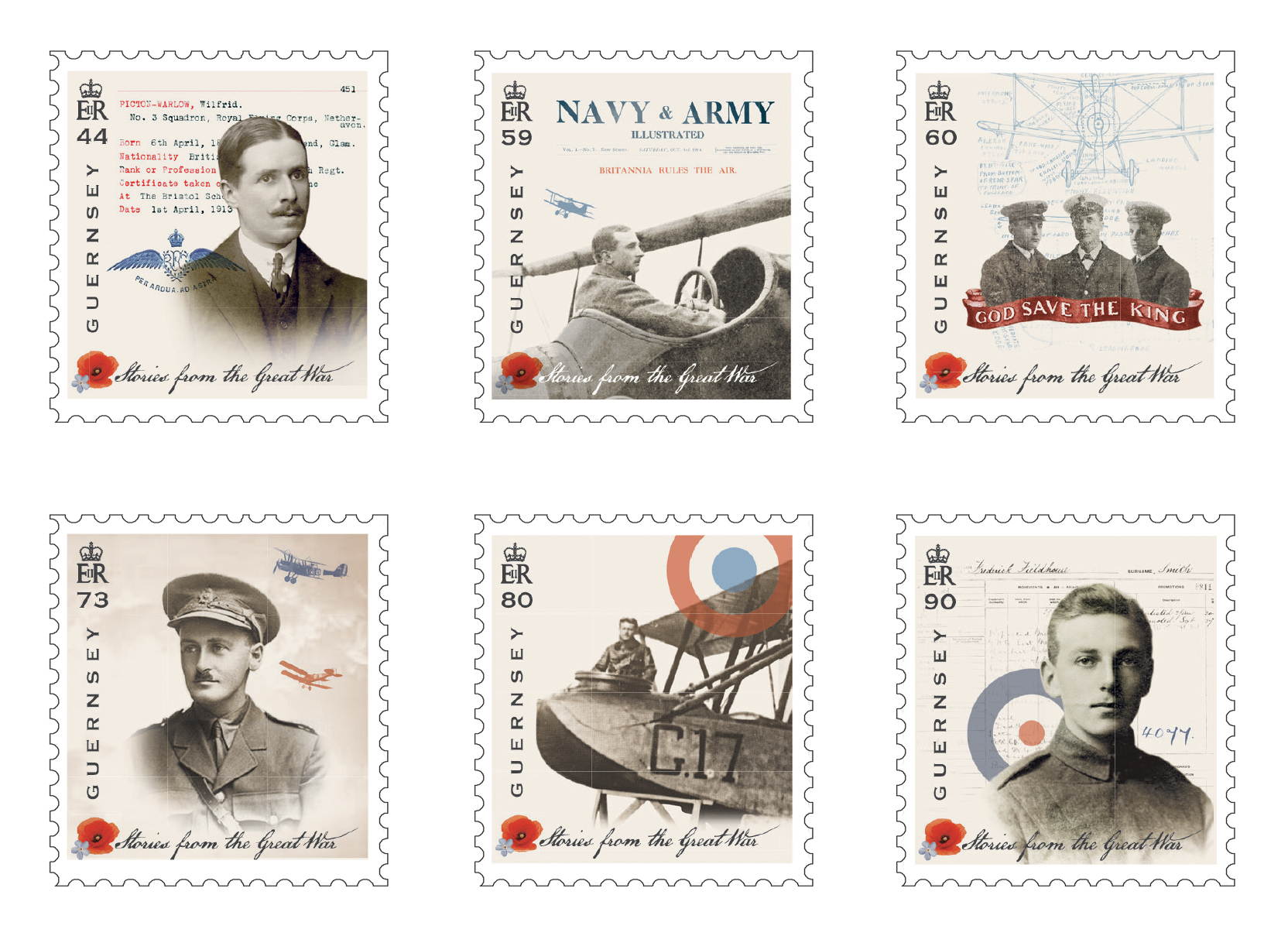 Guernsey Post commemorates Centenary of The Great War