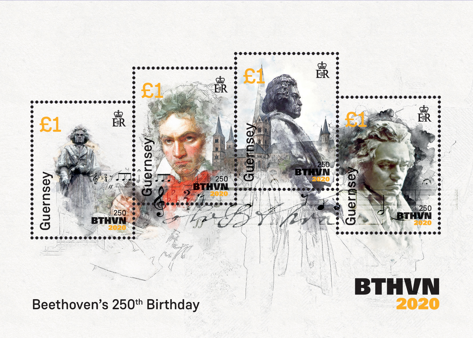 Final commemorative stamp for Beethoven's 250th Anniversary