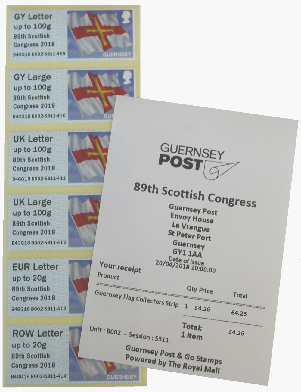 89th Scottish Congress 2018 B Series Overprint