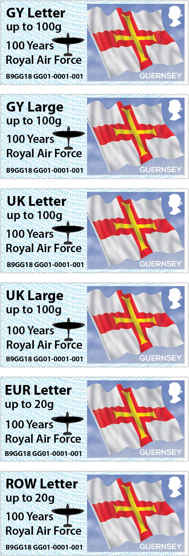 RAF Overprint for Guernsey's Post & Go at Autumn Stampex