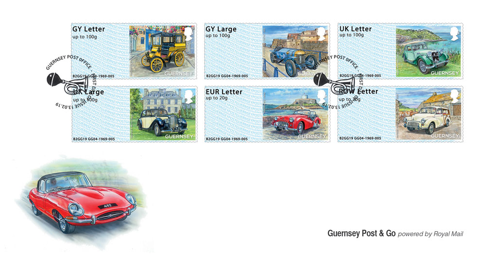 Post & Go stamps to mark 50th Anniversary of Guernsey Old Car Club