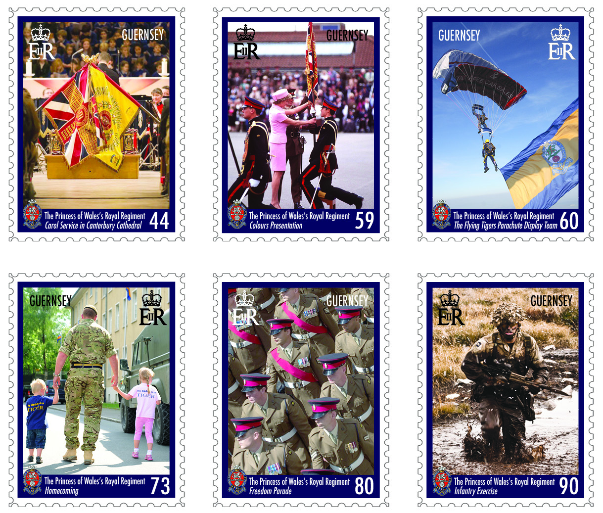 25th anniversary of The Princess of Wales's Royal Regiment celebrated with stamps