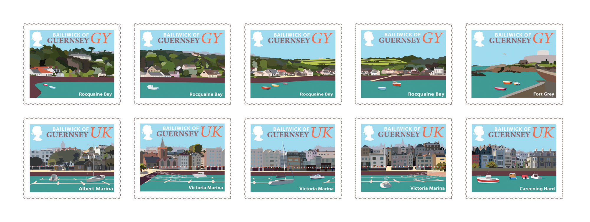 Set of 10 Stamps