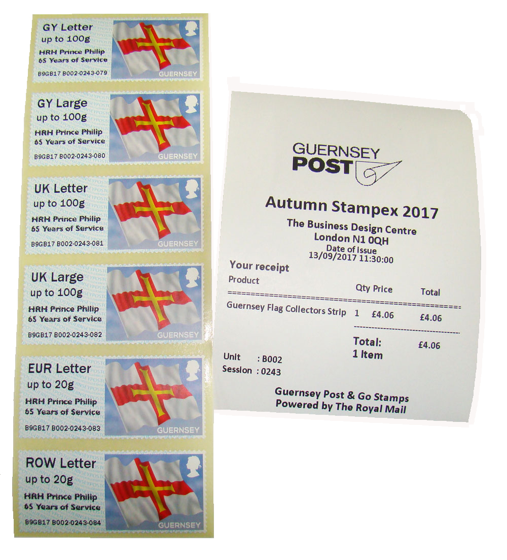 Autumn Stampex 2017 B Series with HRH Prince Philip overprint