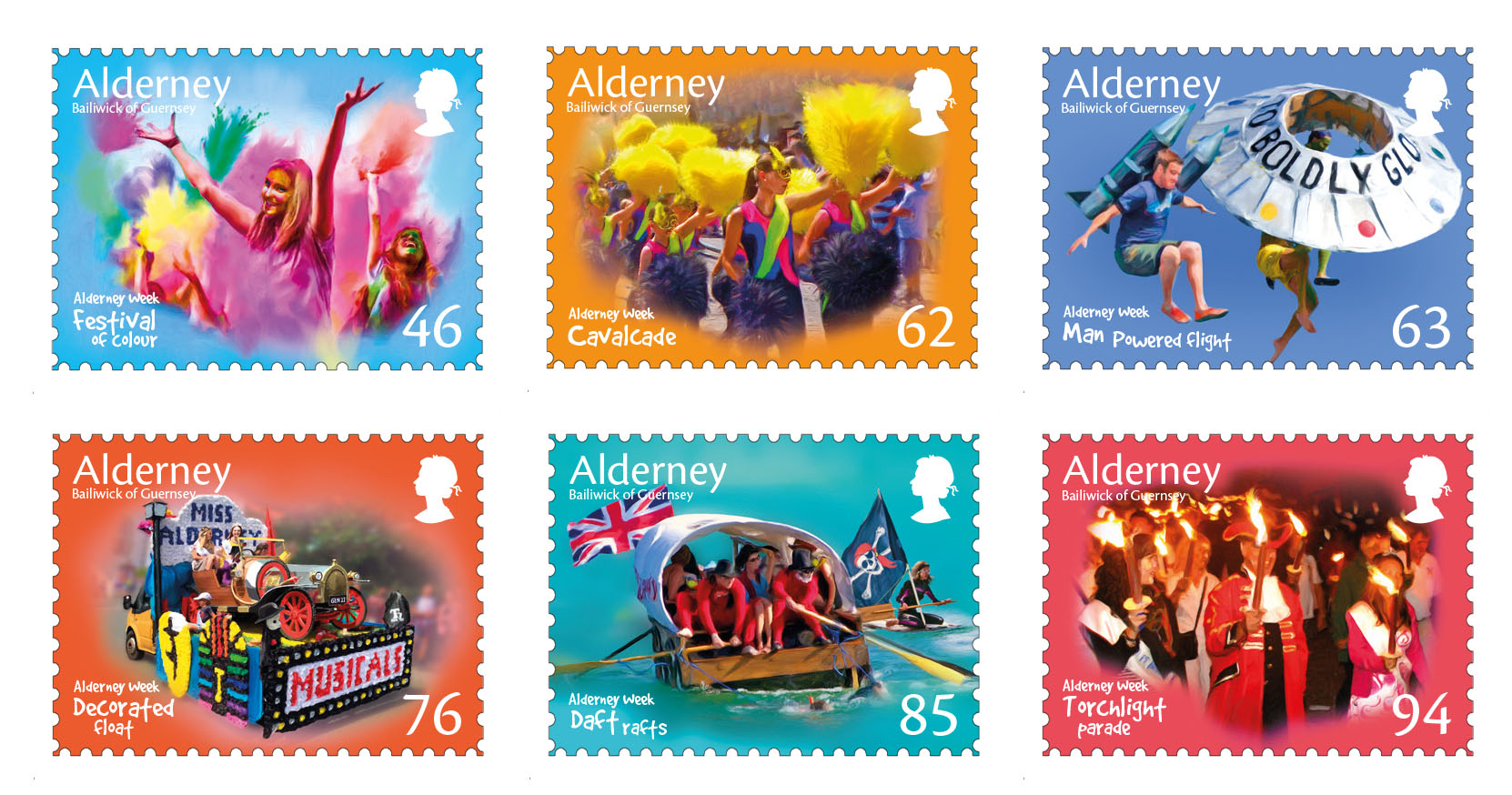 Stamps celebrate 70th Anniversary of Alderney Week