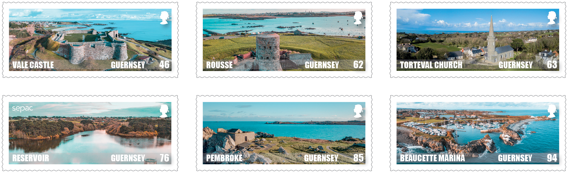Guernsey's spectacular scenery celebrated on stamps