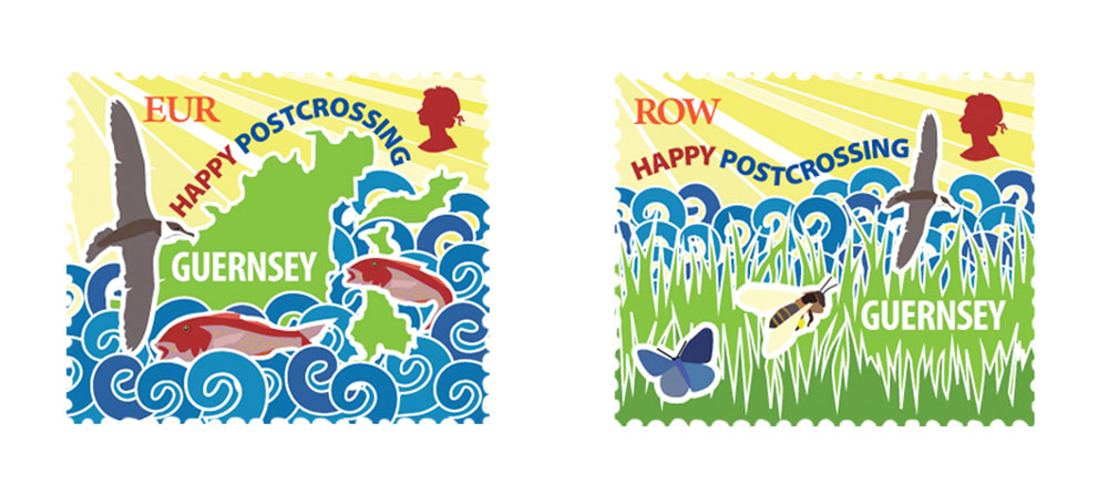 Guernsey issues Postcrossing Stamps