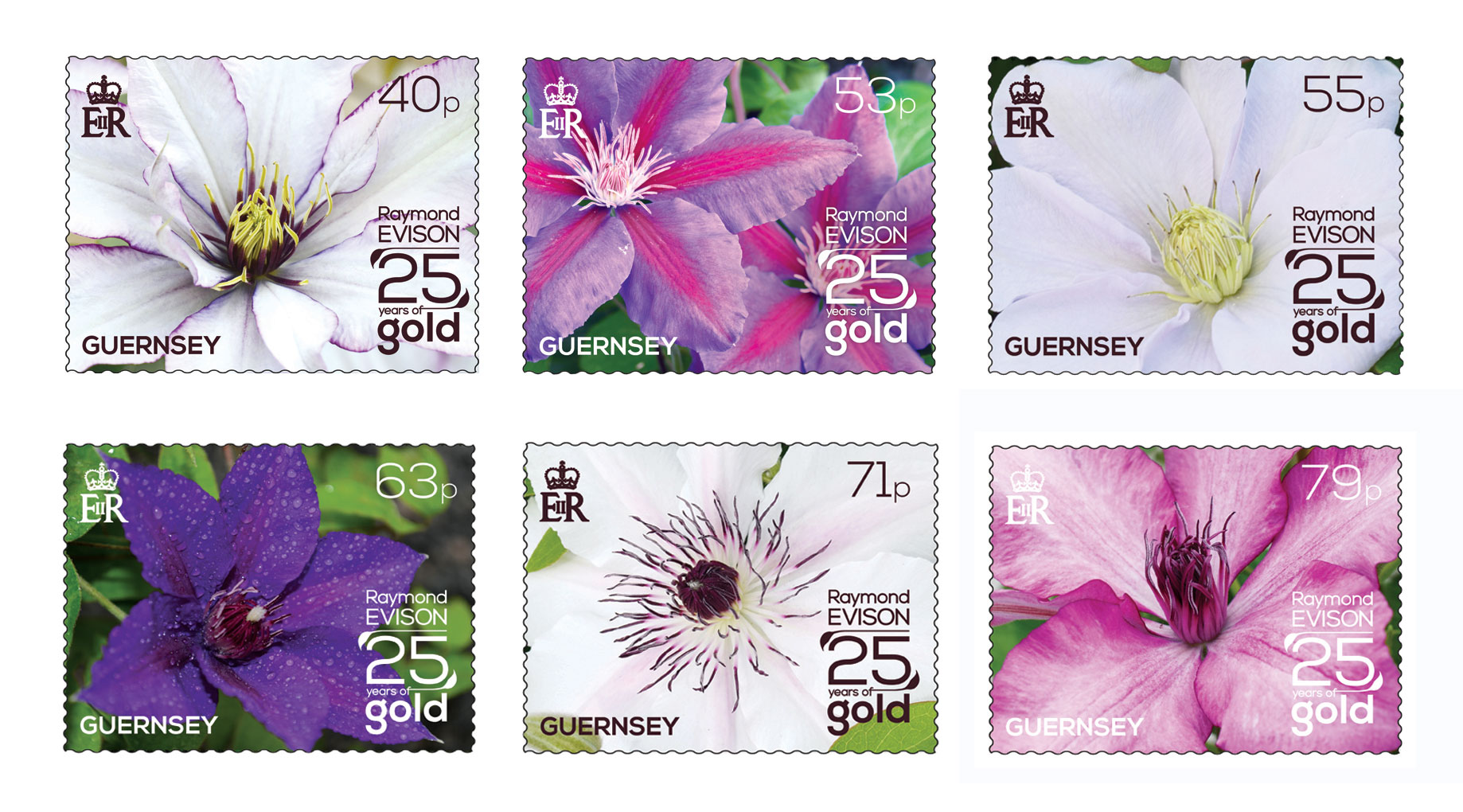 Set of 6 Stamps