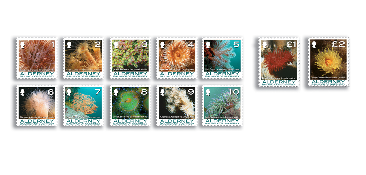 Alderney Definitives 1 - Corals and Anemones